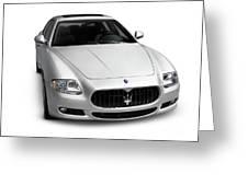 2009 Maserati Quattroporte S Greeting Card