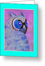 2009 Owl Negative Greeting Card