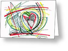 2010 Abstract Drawing Eighteen Greeting Card