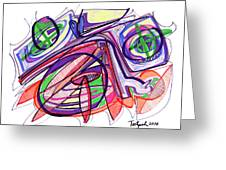 2010 Abstract Drawing Eleven Greeting Card
