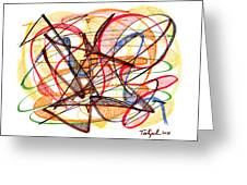 2010 Abstract Drawing Fourteen Greeting Card