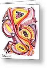 2010 Abstract Drawing Nine Greeting Card