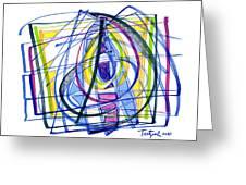 2010 Abstract Drawing Nineteen Greeting Card
