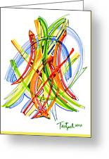 2010 Abstract Drawing Seven Greeting Card