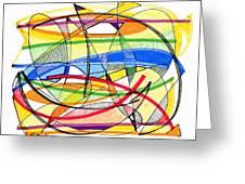 2010 Abstract Drawing Sixteen Greeting Card