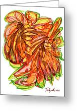 2010 Abstract Drawing Ten Greeting Card