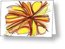 2010 Abstract Drawing Thirteen Greeting Card