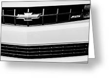 2010 Chevrolet Nickey Camaro Ss Grille Emblem -0078bw Greeting Card