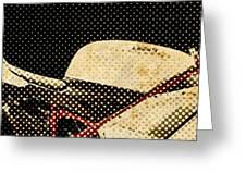 2010 Ducati 1198s Big Newspaper Dots Greeting Card
