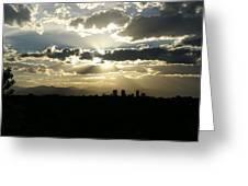 2010 June 4 Sunset Over Denver Greeting Card