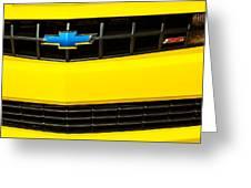 2010 Nickey Camaro Grille Emblem Greeting Card