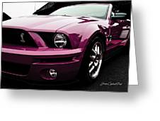 2010 Pink Ford Cobra Mustang Gt 500 Greeting Card