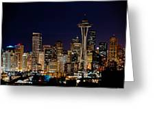 2010 Seattle Earth Hour A350 Greeting Card