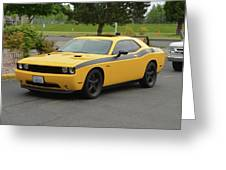 2012 Dodge Challenger Rt Clark Greeting Card