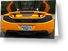 2012 Mc Laren Exhausts And Taillights Greeting Card