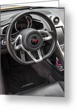 2012 Mc Laren Steering Wheel Greeting Card