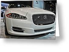 2013 Jaguar Xjl Portfolio Awd Greeting Card