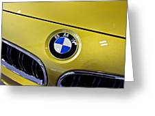 2015 Bmw M4 Hood Greeting Card by Aaron Berg