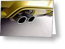 2015 Bmw M4 Exhaust Greeting Card by Aaron Berg