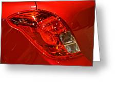 2015 Buick Encore Tail Light Greeting Card