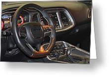 2015 Dodge Challenger Srt Hellcat Interior Greeting Card