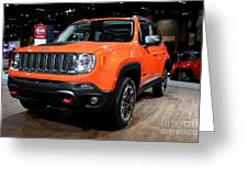 2015 Jeep Renegade Trailhawk Number 3 Greeting Card