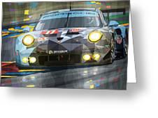2015 Le Mans Gte-am Porsche 911 Rsr Greeting Card