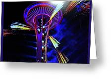 2016 At The Space Needle Greeting Card