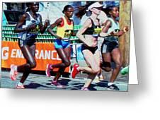 2016 Boston Marathon Winner 2 Greeting Card