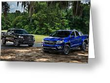 2016 Chevrolet Colorado Midnight Edition Trail Boss Greeting Card