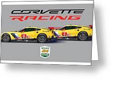 2016 Daytona 24 Hour Corvette Poster Greeting Card