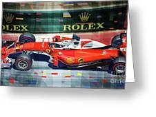 2016 Ferrari Sf16-h Vettel Monaco Gp  Greeting Card