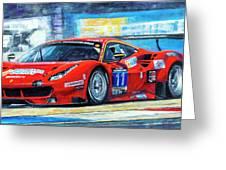 2016 Hankook 24h Epilog Brno Ferrari 488 Gt3 Winner Greeting Card