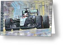 2016 Monaco Gp Mercedes Amg Petronas Hamilton  Greeting Card