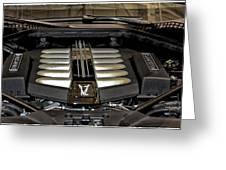 2016 Rolls Royce Wraith Engine Greeting Card
