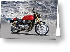 2016 Triumph Cafe Racer Motorcycle Greeting Card
