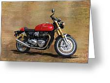2016 Triumph Motorcycle Greeting Card
