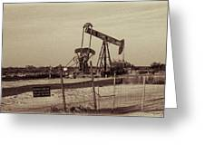 2016_10_pecos Tx_ Pump Jacks 1 Greeting Card