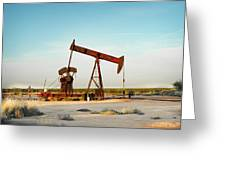 2016_10_pecos Tx_pump Jacks 2 Greeting Card