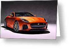 2017 Jaguar F Type Greeting Card