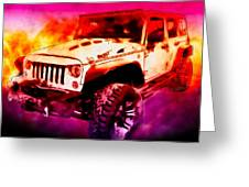 2017 Jeep Unlimited Beast Greeting Card