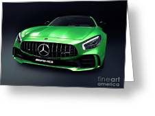 2017 Mercedes Amg Gt R Coupe Sports Car Greeting Card