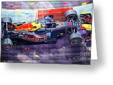 2017 Singapore Gp Red Bull Racing Ricciardo Greeting Card