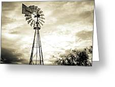 2017_08_midland Tx_windmill 3 Greeting Card