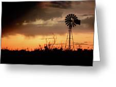 2017_09_midland Tx_windmill 1 Greeting Card