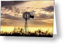 2017_09_midland Tx_windmill 6 Greeting Card