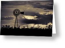 2017_09_midland Tx_windmill 8 Greeting Card