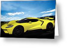 2018 Ford Gt At The Track Greeting Card
