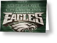 2018 Superbowl Eagles Barn Wall Greeting Card