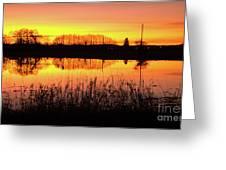 2018_2_12  Vivid Sunset Reflection-4291 Greeting Card